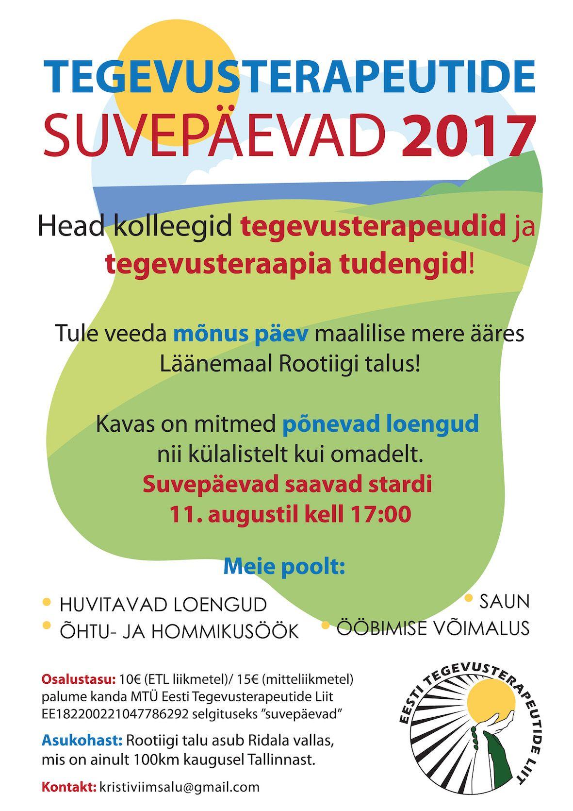 Tegevusterapeutide suvepäev 2017